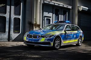 Обои BMW Стайлинг Полицейские 2017 530d xDrive Touring Polizei машины