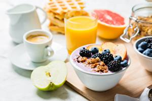 Картинки Ежевика Мюсли Завтрак Пища