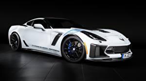 Обои Chevrolet Белый Carbon 65 Edition 2018 Geiger Corvette Z06 Авто