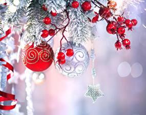 Картинки Рождество Ягоды Шар