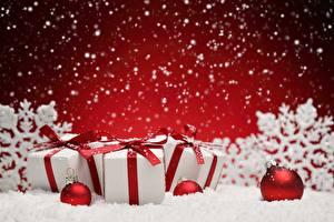 Обои Рождество Подарки Шар