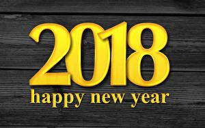 Фото Рождество 2018 Английский Слово - Надпись happy new year