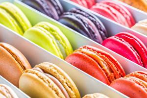 Картинки Крупным планом Печенье Макарон Продукты питания