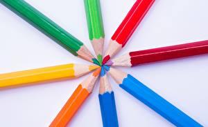 Фотография Вблизи Карандаши Разноцветные