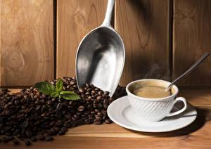 Картинки Кофе Напитки Чашка Зерна Ложка Пища