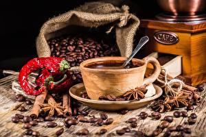 Обои Кофе Зерна Блюдце Чашка Пища