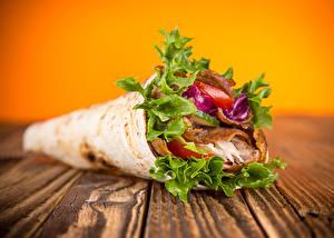 Картинка Быстрое питание Овощи Блины Доски kebab sandwich