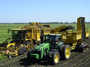 Картинка Поля Сельскохозяйственная техника Трактор ROPA euro-Tiger V8-4 XL, John Deere 8360R
