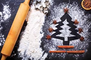 Фотографии Мука Бадьян звезда аниса Рождество Корица Новогодняя ёлка