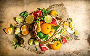 Фотография Фрукты Цитрусовые Мандарины Лимоны Еда