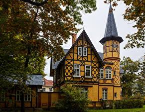 Обои Германия Здания Осенние Особняк Дизайн Quedlinburg