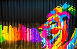 Картинки Лев Граффити