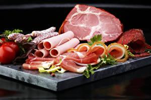 Картинка Мясные продукты Ветчина Колбаса
