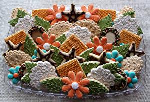 Картинки Выпечка Печенье Дизайн Продукты питания