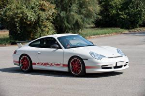 Картинки Порше Стайлинг Белый 2003-05 911 GT3 RS машины