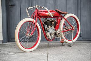 Фотография Ретро Красный 1911-25 Indian Powerplus Board Track Racer
