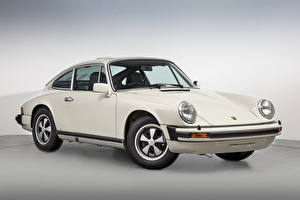 Картинки Винтаж Porsche Белый 1973-77 911 2.7 Coupe Авто