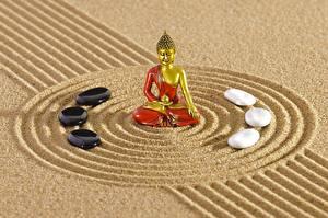 Фотографии Камень Песка Окружность zen