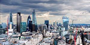 Фото Великобритания Здания Небоскребы Лондон Мегаполис Города