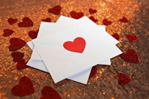 Обои День святого Валентина Сердце Письмо Города картинки