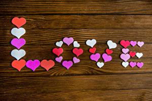 Обои День святого Валентина Любовь Доски Английский Сердце Животные картинки