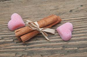Обои День святого Валентина Мармелад Корица Сердце 2 Розовый Еда