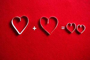 Фото День всех влюблённых Красный фон Сердце