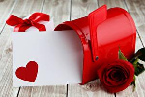 Фотография День всех влюблённых Роза Доски Шаблон поздравительной открытки Сердце Бордовые Цветы