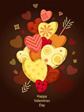 Фотографии День всех влюблённых Векторная графика Цветной фон Английский Сердечко Стрела
