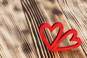 Фотография День святого Валентина Доски Сердечко Двое