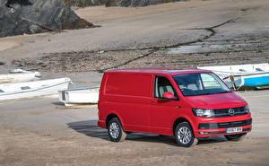 Фотография Volkswagen Красный Металлик 2015-18 Transporter Kasten Автомобили