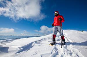 Фото Зимние Мужчины Снег Куртка Спорт