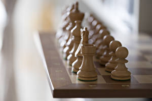 Картинки Вблизи Шахматы Деревянный