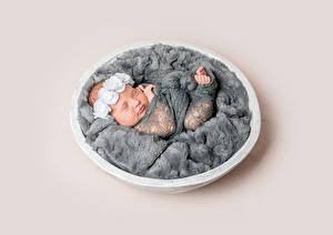 Картинки Цветной фон Младенцы Спит Ребёнок