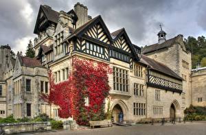 Картинка Англия Здания Дизайн Cragside Города