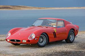 Фото Феррари Красный Металлик 1962 250 GTO Scaglietti Автомобили