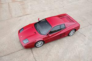 Картинки Феррари Винтаж Красный Сверху 1994-1996 F512 M Pininfarina Авто