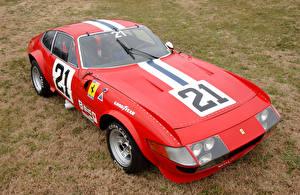 Картинка Ferrari Ретро Стайлинг Pininfarina Красная 1970-71 365 GTB-4 Daytona Competizione (Series I) авто