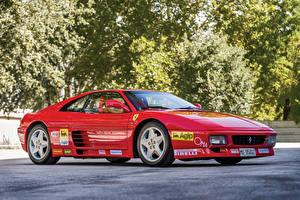 Картинки Феррари Тюнинг Pininfarina Красная Металлик 1993 348 Challenge Pininfarina машины