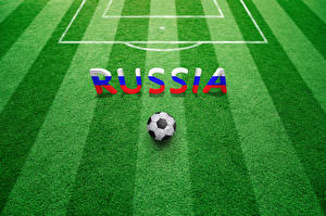 Обои Футбол Английский Мяч Газон Слово - Надпись
