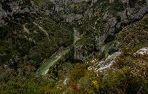 Обои Франция Речка Леса Альпы Каньон Утес Soleils
