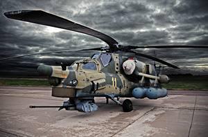 Картинка Вертолеты Российские Mi-28N Авиация