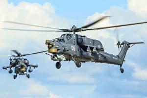 Фотография Вертолеты Российские Mi-28N