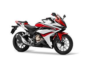 Картинка Honda - Мотоциклы Белый фон Сбоку 2016-18 CBR500R Worldwide Мотоциклы
