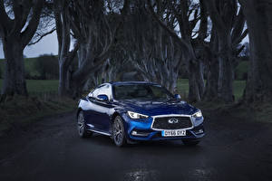 Картинки Infiniti Синих Металлик 2016 Q60 2.0t автомобиль
