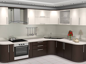 Фото Интерьер Дизайн Кухня 3D Графика