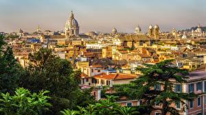 Обои Италия Рим Дома Храмы