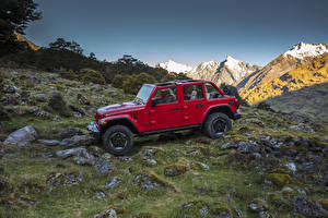 Картинка Jeep Красный 2018 Wrangler Unlimited Rubicon автомобиль