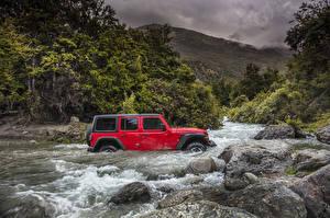 Фотография Джип Река Красные 2018 Wrangler Unlimited Rubicon Автомобили