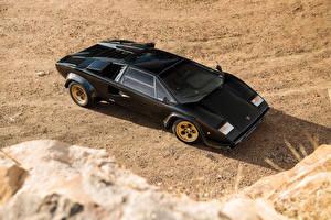 Фото Lamborghini Ретро Черный 1978-79 Countach LP400 S машины